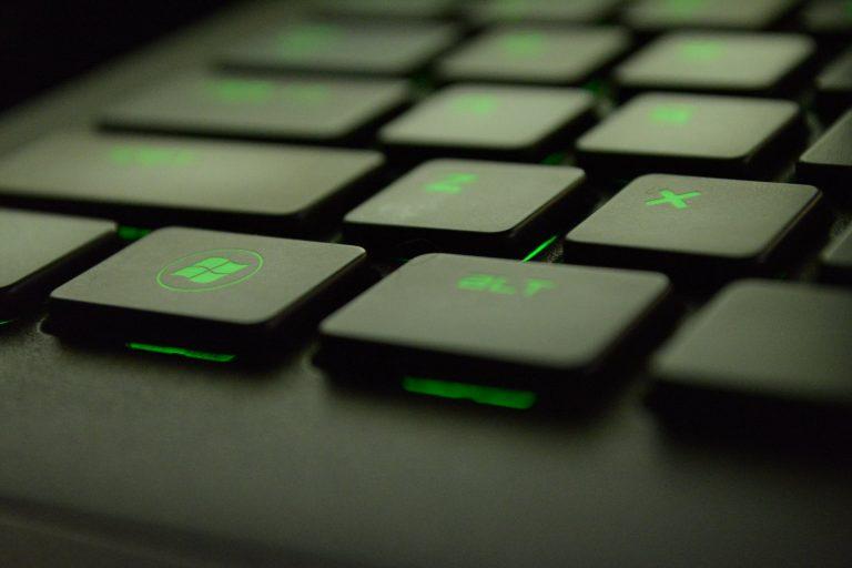 Gaming Keyboard Neon Green