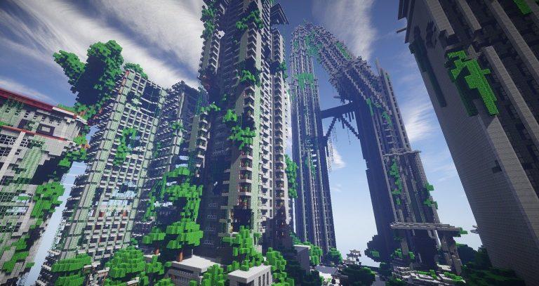 buildings on minecraft