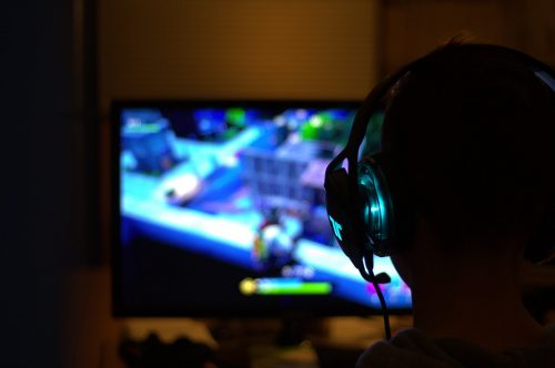 playing games on a computer